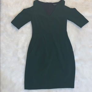 Nanette Lepore Green Cut Out Sleeve Dress